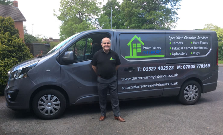 Darren Varney and his van