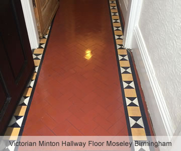 After Victorian Minton Hallway Floor Moseley Birmingham