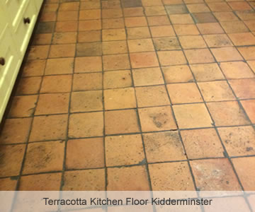 Before Terracotta Kitchen Floor Kidderminster
