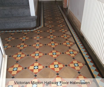 After Victorian Minton Hallway Floor Halesowen